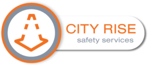 Logo from City Rise Safety, the top in traffic safety, traffic control, and traffic plans.